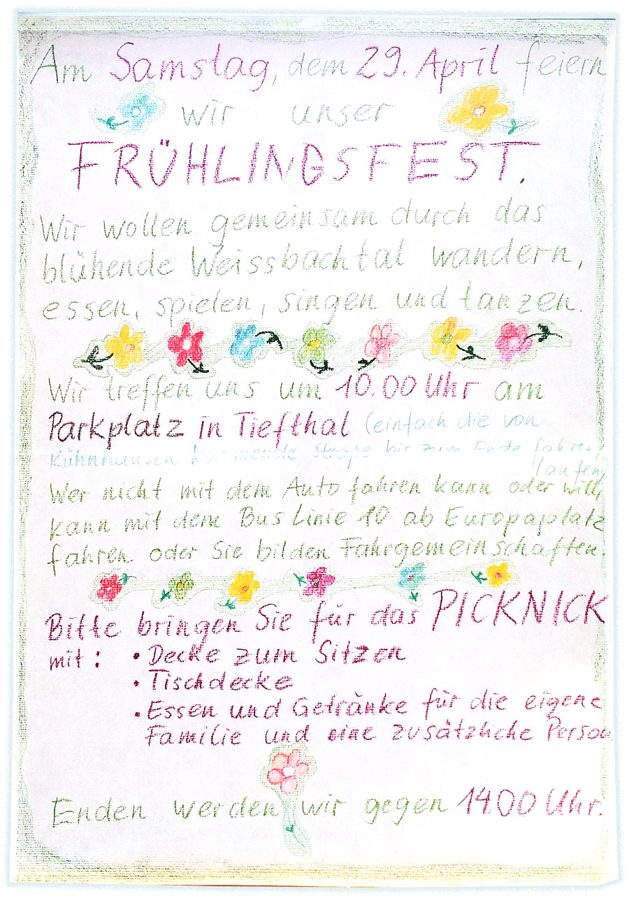 Frühlingsfest am 29. April 2017